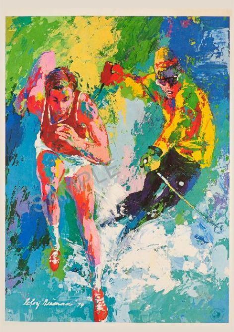 Winter Summer Olympics by Leroy Neiman